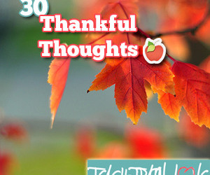 30 Thankful Thoughts