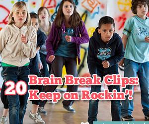 20 Brain Break Clips:  Keep on Rockin'!