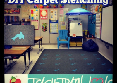 DIY Carpet Stenciling