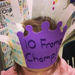 Ten Frame Champ...building number sense & complements of 10.