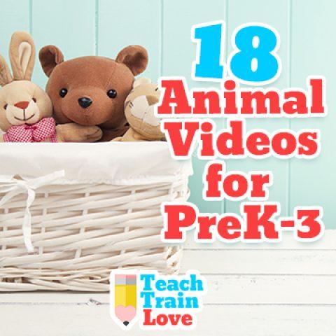 18 Animal Videos for PreK-3