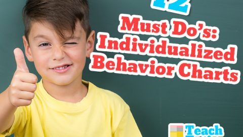 12 Must Do's:  Individualized Behavior Charts